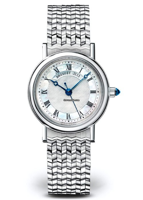 Brequet Classique 8067 18K White Gold Ladies Watch, 8067BB/52/BC0