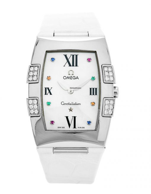 Omega Constellation Quadrella Stainless Steel and Diamonds Watch MSRP $4,750, Preowned-1886.79.36