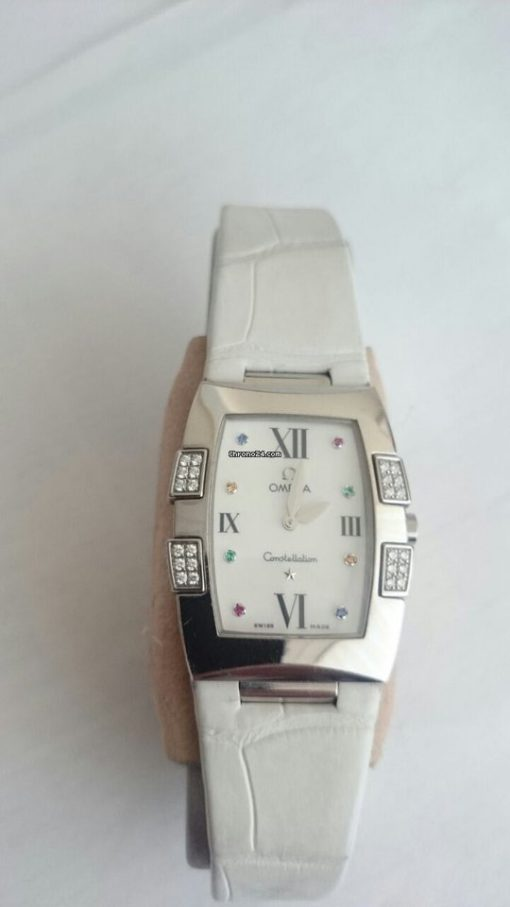Omega Constellation Quadrella Stainless Steel and Diamonds Watch MSRP $4,750, Preowned-1886.79.36 6