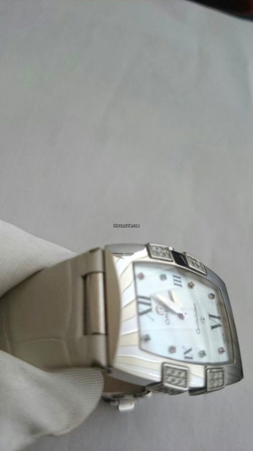 Omega Constellation Quadrella Stainless Steel and Diamonds Watch MSRP $4,750, Preowned-1886.79.36 3