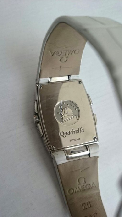 Omega Constellation Quadrella Stainless Steel and Diamonds Watch MSRP $4,750, Preowned-1886.79.36 2