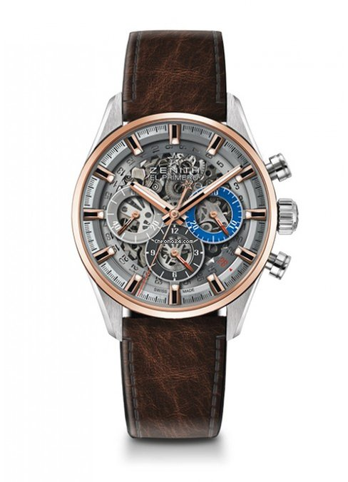 Zenith Cronomaster El Primero Full Open Stainless Steel & 18K Rose Gold Men's Watch, 51.2151.400/78.C810
