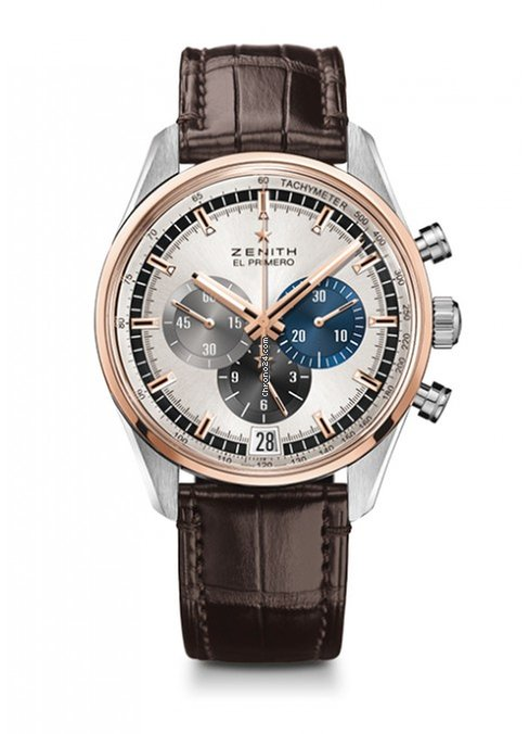 Zenith Chronomaster El Primero Stainless steel & 18K Rose Gold Men's Watch, 51.2080.400/69.C494