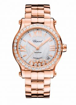 Chopard Happy Sport 18K Rose Gold & Diamonds Ladies Watch 274808-5007