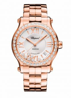 Chopard Happy Sport 18K Rose Gold & Diamonds Ladies Watch 274808-5004