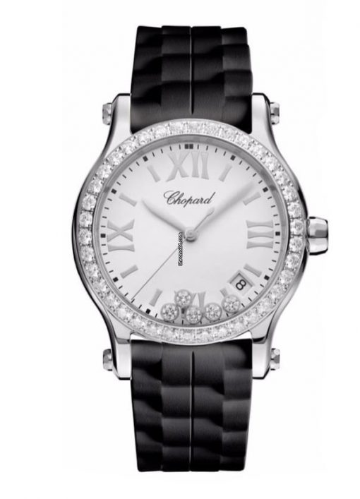 Chopard Happy Sport Stainless Steel & Diamonds Ladies Watch, 278582-3003