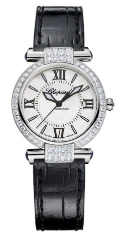 Chopard Imperiale 18K White Gold, Blue Sapphires & Diamonds Ladies Watch 384238-1001