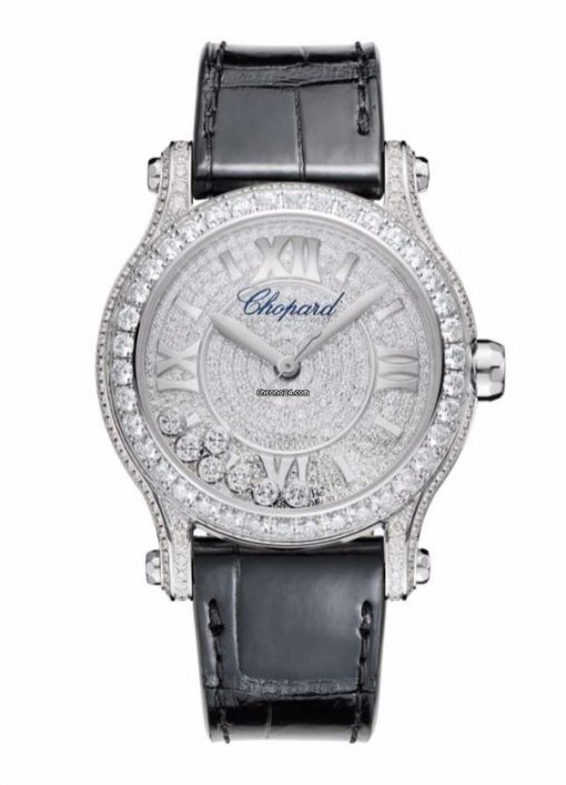 Chopard Happy Sport White Gold & Diamonds Ladies Watch, 274891-1001