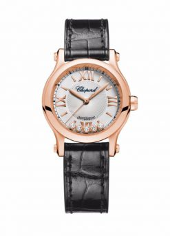 Chopard Happy Sport 18K Rose Gold & Diamonds Ladies Watch 274893-5001