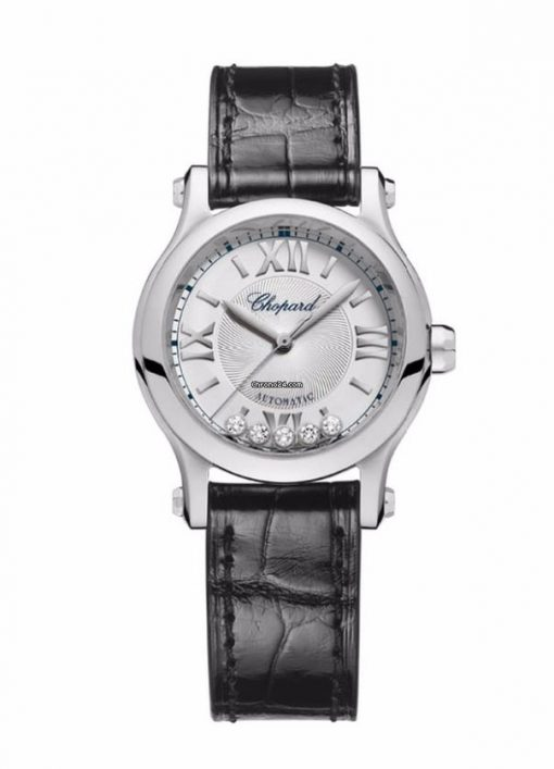 Chopard Happy Sport Stainless Steel & Diamonds Ladies Watch, 278573-3001