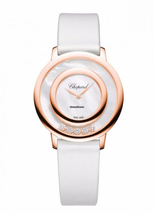 Chopard Happy Sport Icons 18K Rose Gold, Mother-Of-Pearl & Diamonds Ladies Watch, 209429-5103