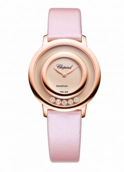 Chopard Happy Sport Icons 18K Rose Gold, Reconstructed Rosé Stone & Diamonds Ladies… 209429-5106