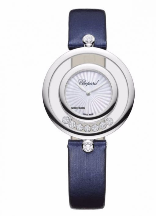 Chopard Happy Sport Icons 18K White Gold & Diamonds Ladies Watchwhite, 209426-1001
