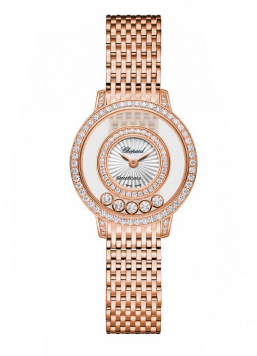 Chopard Happy Sport Icons 18K Rose Gold & Diamonds Ladies Watch, 209411-5001