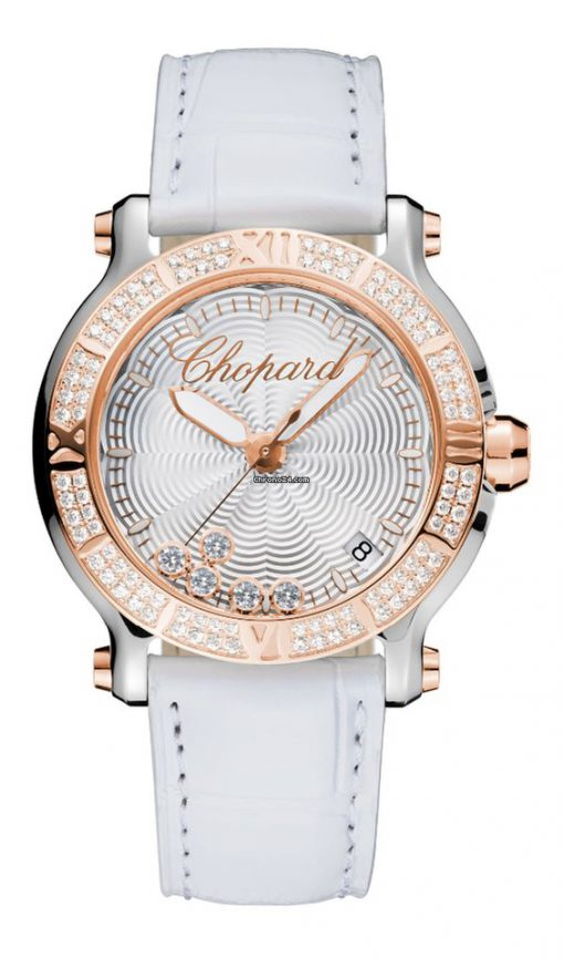 Chopard Happy Sport 18K Rose Gold & Stainless Steel Ladies Watch, 278551-6003