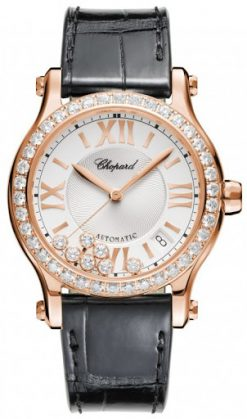 Chopard Happy Sport 18K Rose Gold & Diamonds Ladies Watch 274808-5003