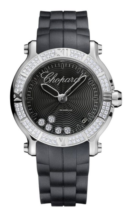 Chopard Happy Sport Stainless Steel & Diamonds Ladies Watch, 278551-3004