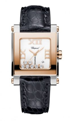 Chopard Happy Sport 18K Rose Gold, Stainless Steel & Diamonds Ladies Watch 278497-9001