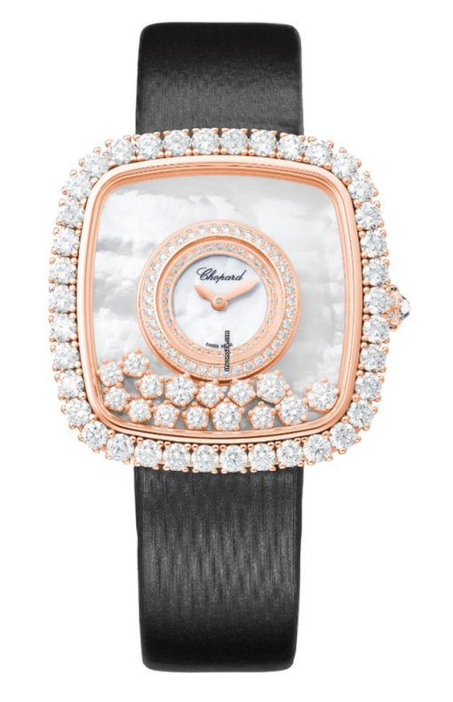 Chopard Happy Diamonds 18K Rose Gold & Diamonds Ladies Watch, 204368-5001