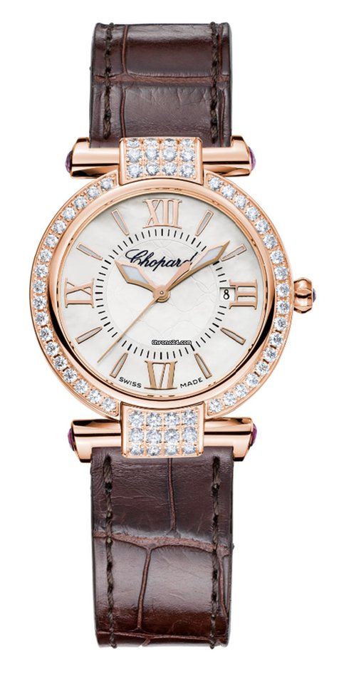 Chopard Imperiale 18K Rose Gold, Amethysts & Diamonds Ladies Watch, 384238-5003