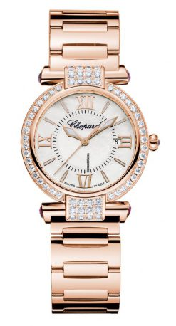 Chopard Imperiale 18K Rose Gold, Amethysts & Diamonds Ladies Watch Preowned-384238-5004
