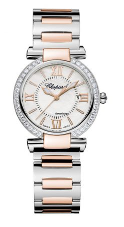 Chopard Imperiale 18K Rose Gold, Stainless Steel, Amethyst & Diamonds Ladies Watch 388541-6004