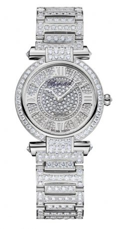 Chopard Imperiale 18K White Gold & Diamonds Ladies Watch 384280-1002
