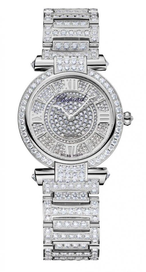 Chopard Imperiale 18K White Gold & Diamonds Ladies Watch, 384280-1002