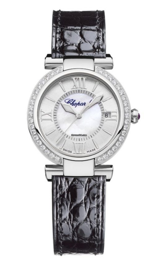 Chopard Imperiale Stainless Steel, Diamonds & Amethyst Ladies Watch, 388563-3003
