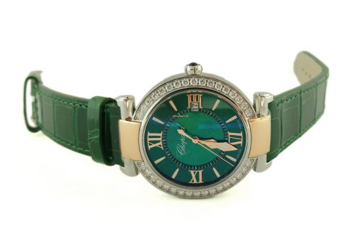 Chopard Imperiale 18K Rose Gold, Stainless Steel, Green Tourmalines & Diamonds Ladies Watch, 388532-6008 6