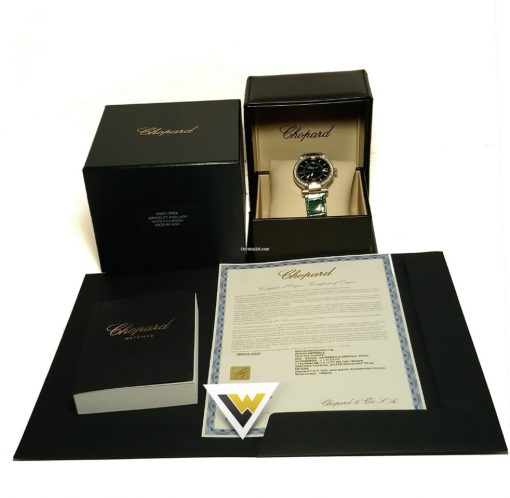 Chopard Imperiale 18K Rose Gold, Stainless Steel, Green Tourmalines & Diamonds Ladies Watch, 388532-6008 4