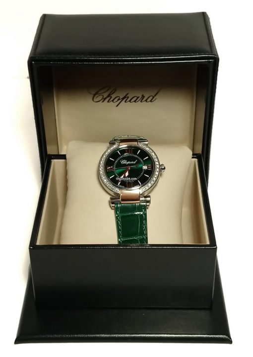 Chopard Imperiale 18K Rose Gold, Stainless Steel, Green Tourmalines & Diamonds Ladies Watch, 388532-6008 3