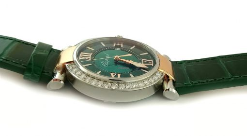 Chopard Imperiale 18K Rose Gold, Stainless Steel, Green Tourmalines & Diamonds Ladies Watch, 388532-6008 2