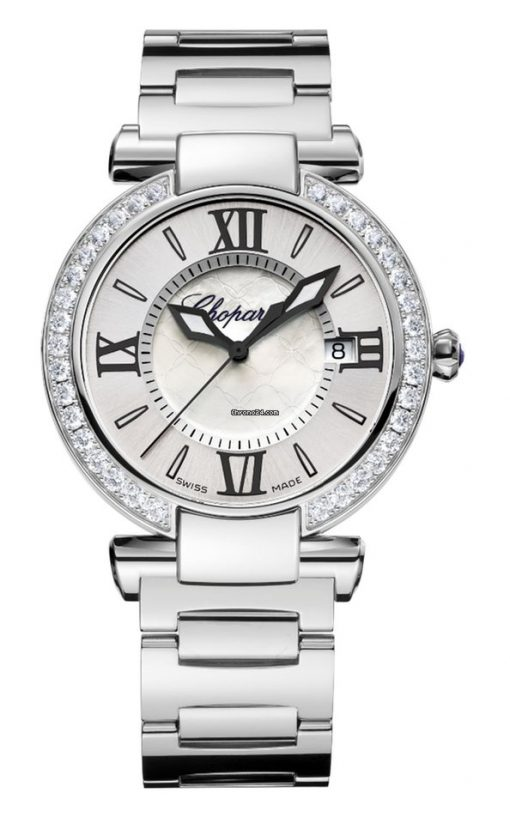 Chopard Imperiale Stainless Steel, Diamonds & Amethyst Ladies Watch, 388532-3004