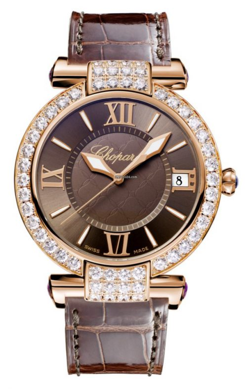 Chopard Imperiale 18K Rose Gold, Amethysts & Diamonds Ladies Watch, 384241-5007