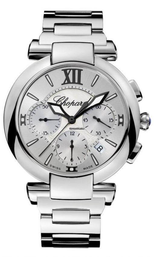 Chopard Imperiale Chrono Stainless Steel & Amethyst Ladies Watch, 388549-3002