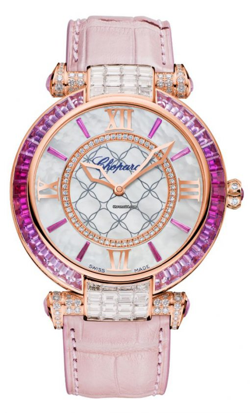 Chopard Imperiale 18K Rose Gold, Pink Sapphires & Diamonds Ladies Watch, 384239-5010