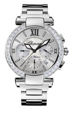 Chopard Imperiale Chrono Stainless Steel, Amethyst & Diamonds Ladies Watch 388549-3004