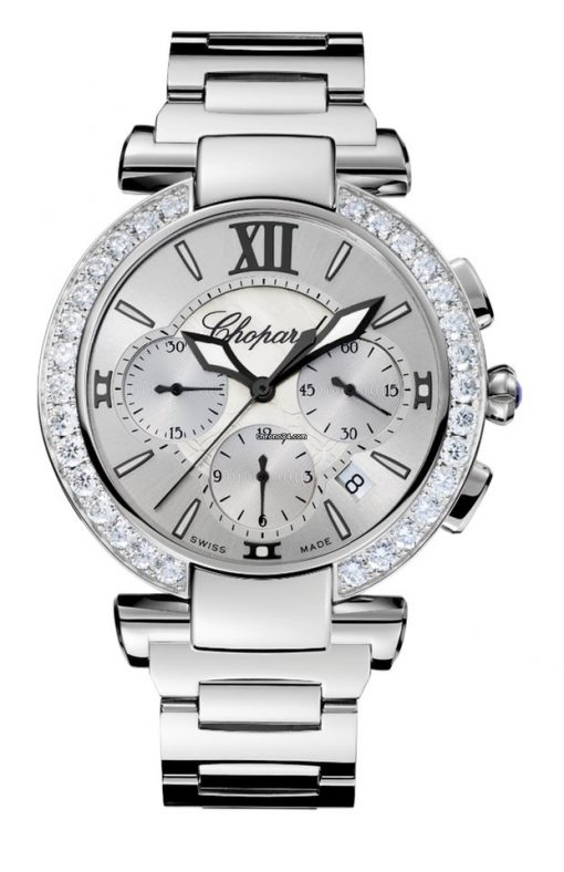 Chopard Imperiale Chrono Stainless Steel, Amethyst & Diamonds Ladies Watch, 388549-3004
