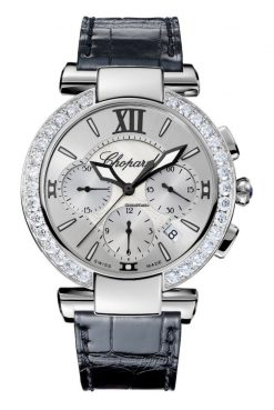 Chopard Imperiale Chrono Stainless Steel, Amethyst & Diamonds Ladies Watch 388549-3003