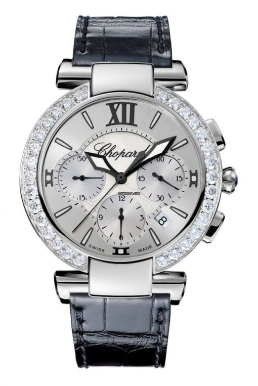Chopard Imperiale Chrono Stainless Steel, Amethyst & Diamonds Ladies Watch, 388549-3003