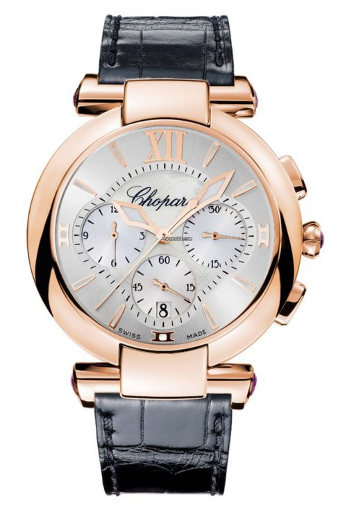 Chopard Imperiale Chrono 18K Rose Gold & Amethysts Ladies Watch, 384211-5001