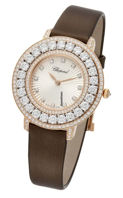 Chopard L'Heure Du Diamant 18K Rose Gold, 18K White Gold & Diamonds Ladies Watch, 139423-9001