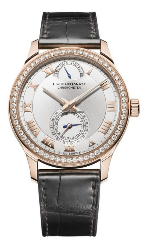 Chopard L.U.C Quattro 18K Rose Gold & Diamonds Unisex Watch, 171926-5001