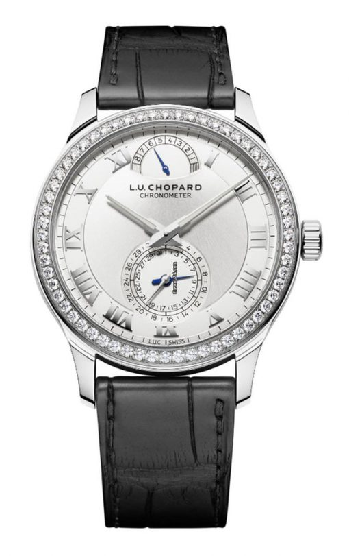 Chopard L.U.C Quattro 18K White Gold & Diamonds Unisex Watch, 171926-1001