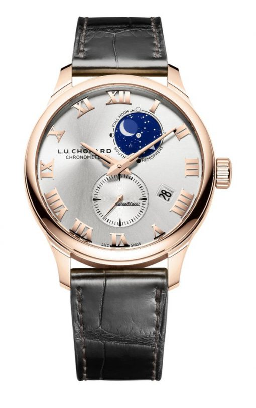 Chopard L.U.C Lunar Twin 18K Rose Gold Unisex Watch, 161934-5001