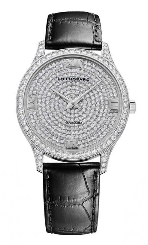 Chopard L.U.C XP 18K White Gold & Diamonds Ladies Watch, 171966-1003