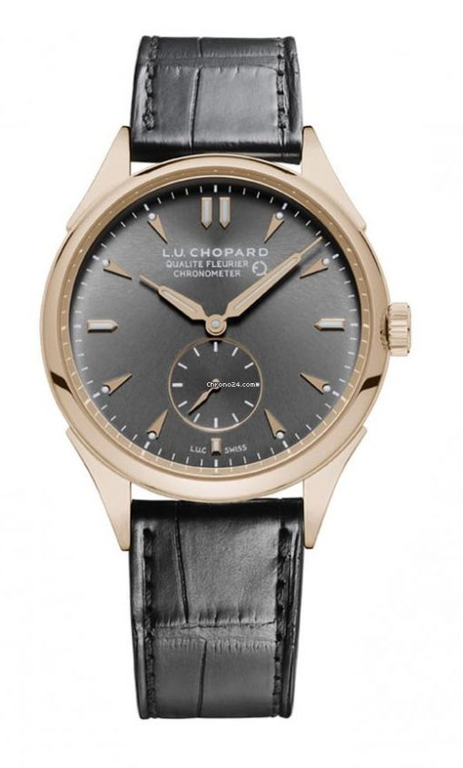 Chopard L.U.C Qualité Fleurier 18K Rose Gold Men's Watch, 161896-5003