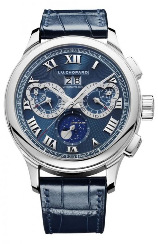 Chopard L.U.C Perpetual Chrono Platinum & 18K White Gold Men's Watch, 161973-9001