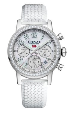 Chopard Mille Miglia Classic Chronograph Stainless Steel & Diamonds Ladies Watch 178588-3001